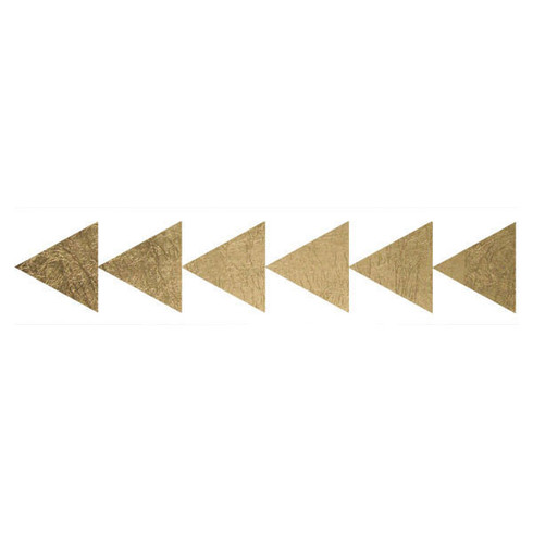 Gold triangle bracelet fashion tats