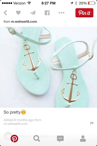 shoes cutiepiemarzia mint slippers anchor