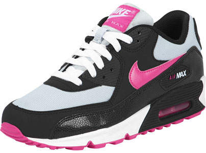 2d72a3ac6719 Nike Air Max 90 Youth GS chaussures noir rose gris