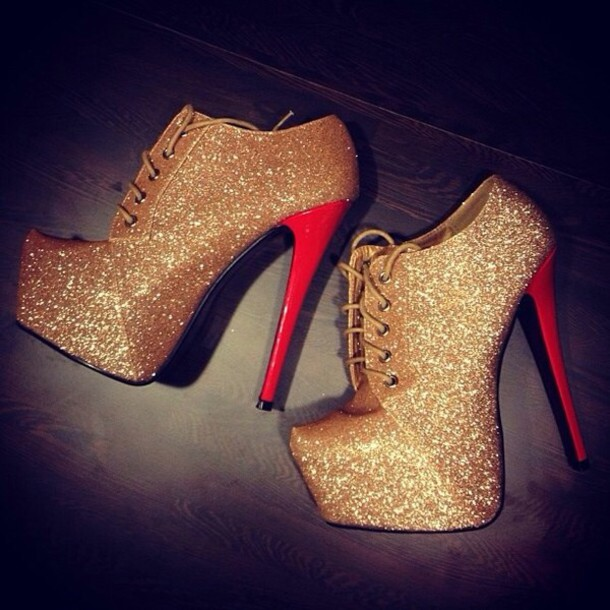 shoes, high heels, glitter shoes