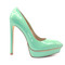 5 inch heels - mint platform high heels