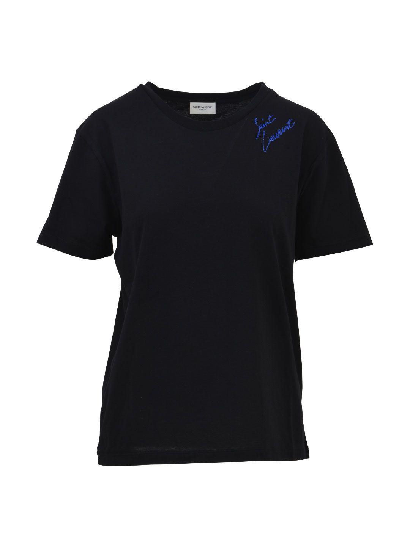 Saint Laurent Lurex Logo T-shirt