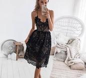 dress,black,black dress,detailed