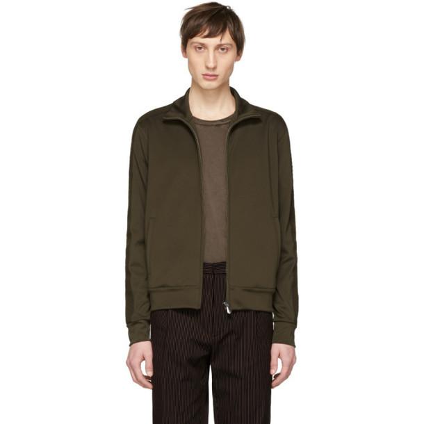 Bottega Veneta Green Zip-Up Jacket