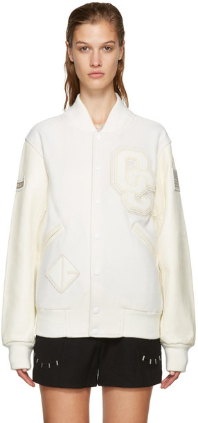Opening Ceremony Off-white Varsity Jacket