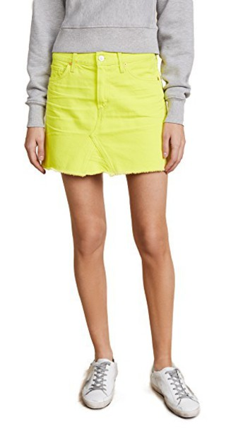 CITIZENS OF HUMANITY miniskirt yellow skirt