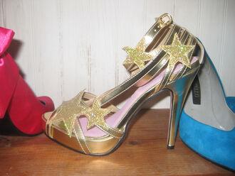 shoes gold gold high heels high heels high strap heels halloween sexy pumps