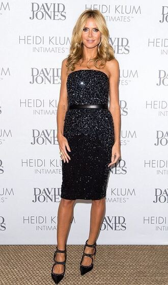 strapless black dress heidi klum