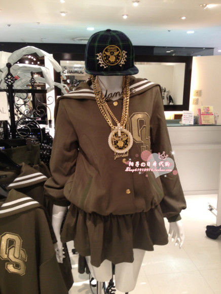 jacket baseball jacket cheap swag kawaii taobao from china sailor seifuku baseball basketball jersey brown jacket made in china