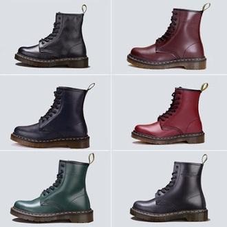 shoes black cherry combatboots
