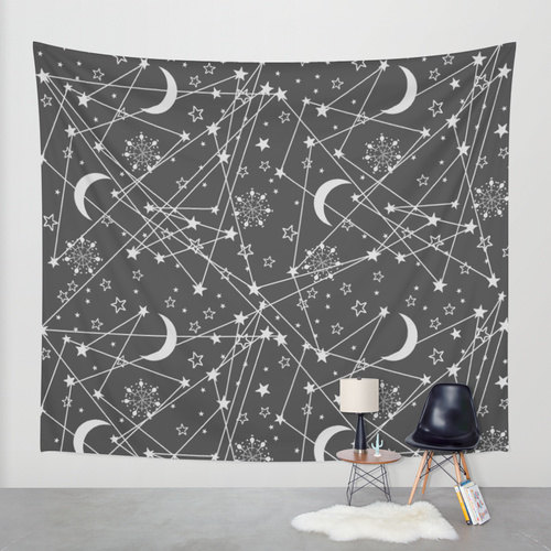 Sun and moon tapestry bohemian tapestry hippie tapestry for Space themed tapestry