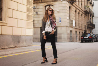 my daily style blogger jacket scarf pants shoes bag