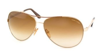 Amazon.com: Tom Ford Charles FT0035 Sunglasses-772 Rose Gold (Gradient Brown Lens)-62mm: Clothing