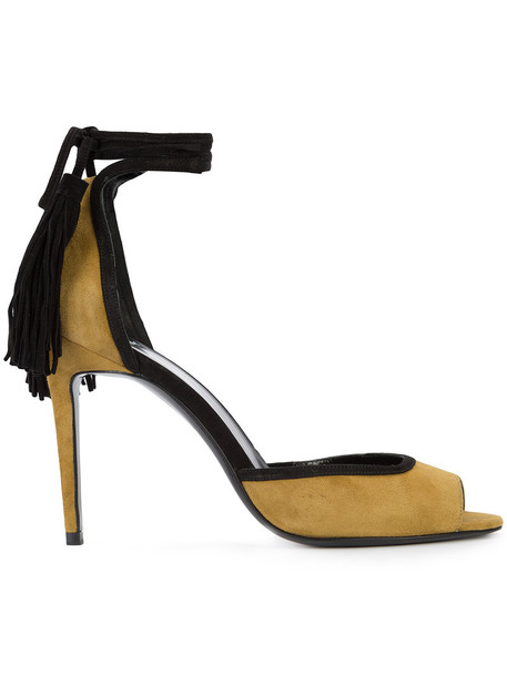 Pierre Hardy women sandals leather suede black shoes