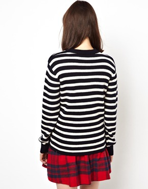Pop Boutique | Pop Boutique Breton Stripe Knit Jumper at ASOS