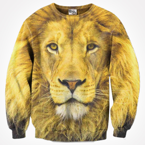Lion Jumper (Adult) by Purple Pop