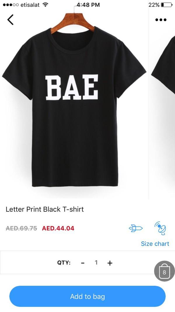 t-shirt black t-shirt bae