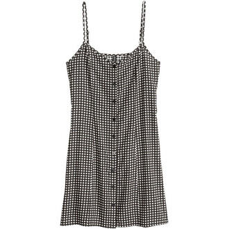 buttons dress black and white dress stripes pattern