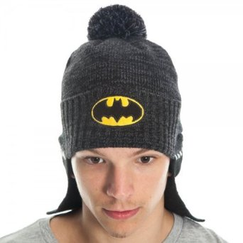 Amazon.com: Dc Comics Batman Mens Black Caped Roll-up Beanie Hat: Clothing