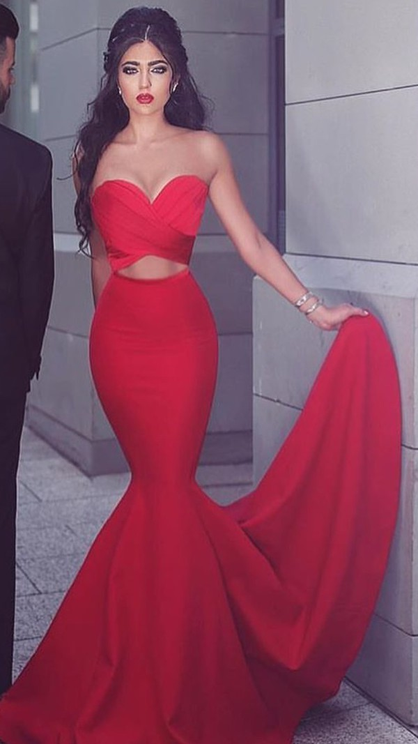 dress two-piece gown mermaid prom dress prom dress red prom dress red long prom dress formal dress evening dress long dress long evening dress red dress two piece dress set cherry prom mermaid two-pieces dress prom beauty i need this help please help me find it