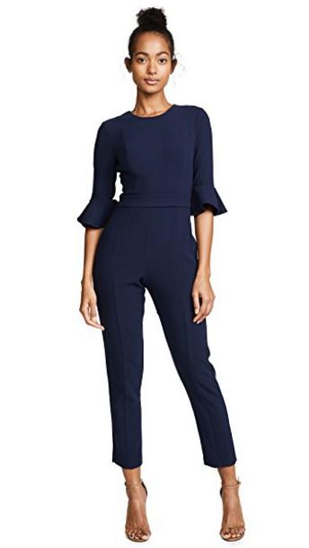 Black Halo jumpsuit brooklyn blue