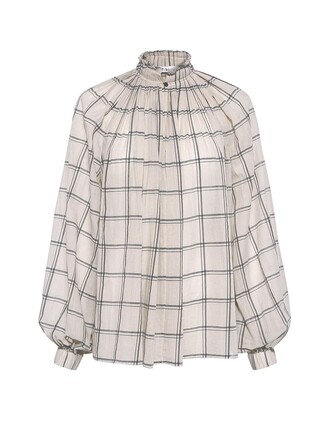 blouse plaid top