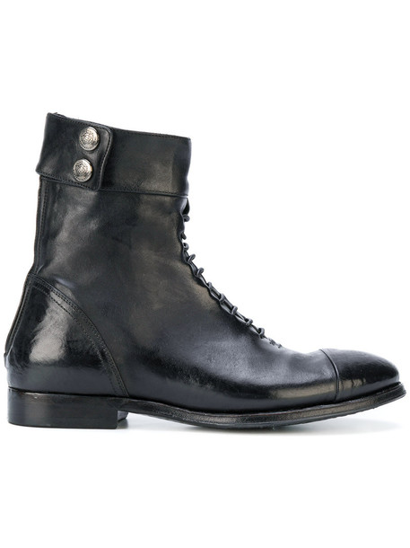 ALBERTO FASCIANI women ankle boots leather black shoes