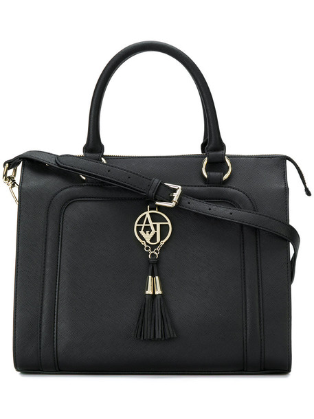 ARMANI JEANS tassel women black bag