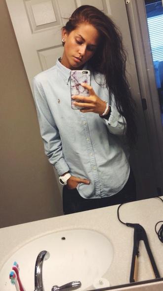 boyish blue shirt shirt