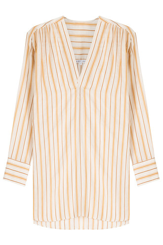 tunic cotton silk stripes top