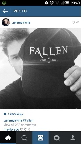 hat black cap fallen