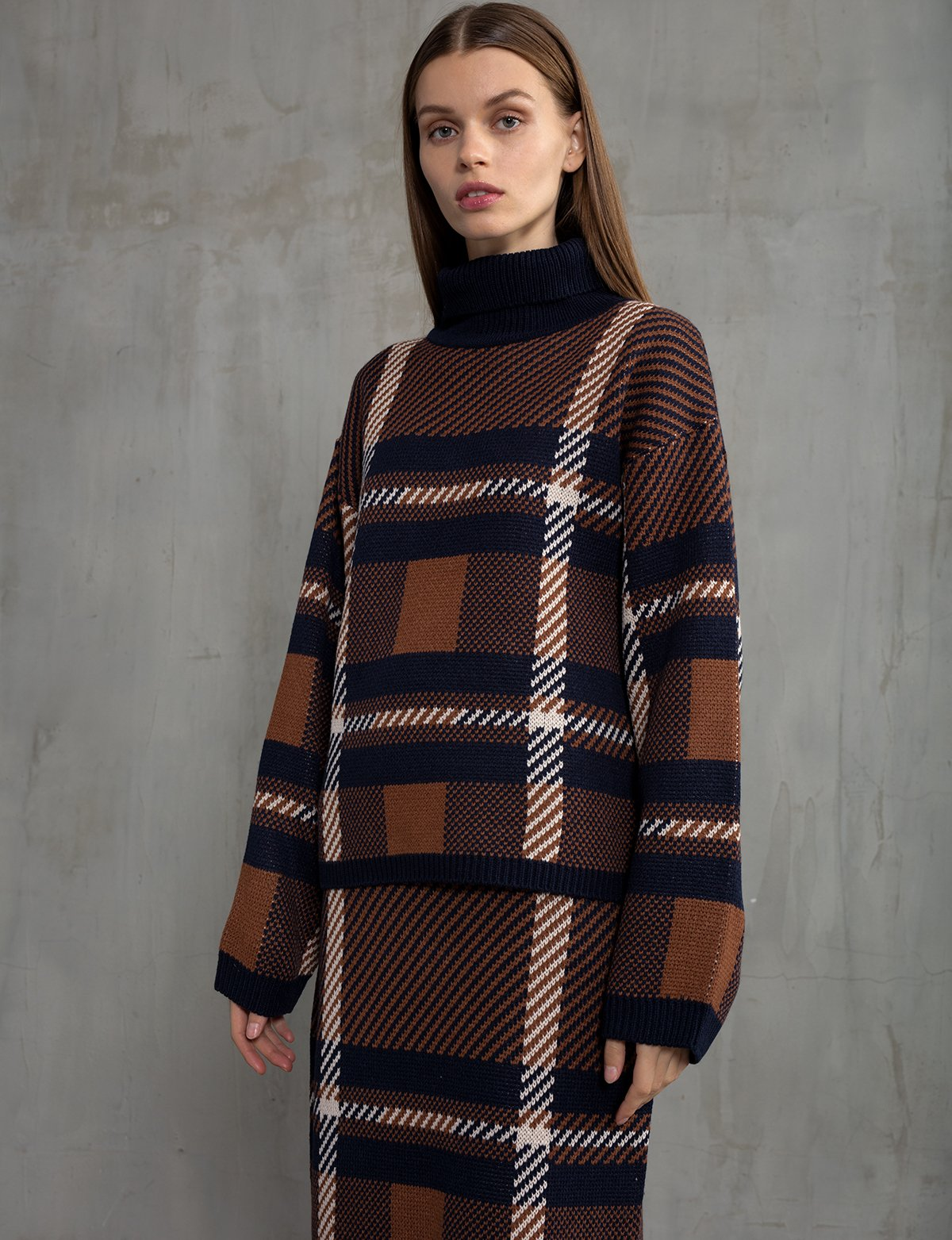 Plaid Matching Skirt and Sweater Set -PREORDER