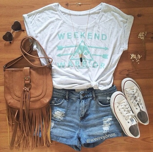 bag fringed bag boho fringes denim shorts shorts ripped jeans High waisted shorts beach top