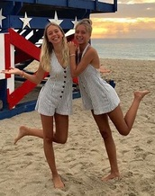 romper,lisaandlena,lisa and lena,leli,lisa,lena,striped romper,miami,beach,miami beach