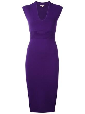 dress midi dress women midi spandex purple pink