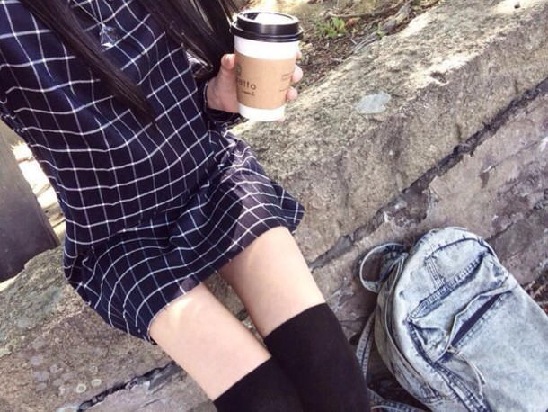 dress blue dress blue black blue and black grunge pale indie hipster rock tumblr carreau navy dress tumblr outfit office outfits shirt style boyfriend
