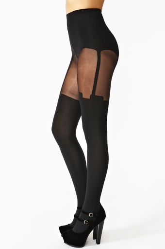 Super suspender tights  in  accessories at nasty gal