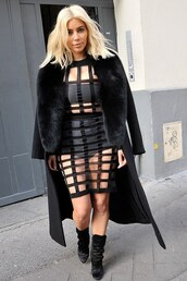 top,skirt,mesh,kim kardashian,fashion week 2015