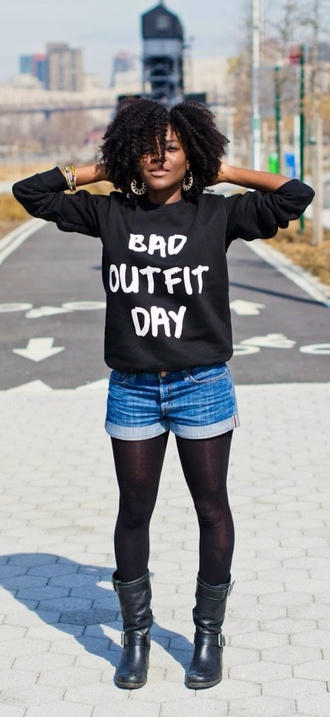 top bad outfit day top tights shorts