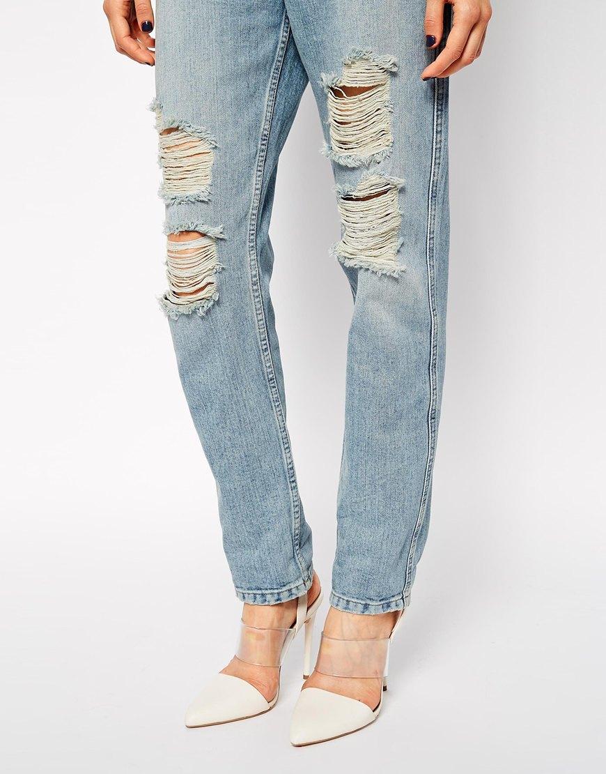 ASOS Original Rigid Mom Jeans in Naomi Wash at asos.com