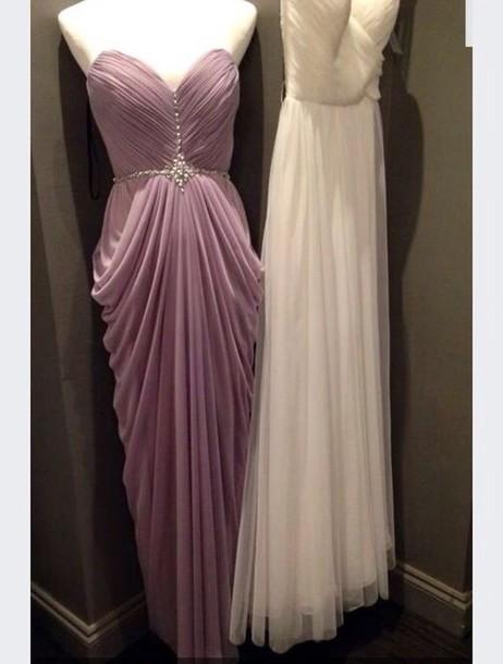 dress purple dress lavender prom dresses wrap dress ruched dress prom dress