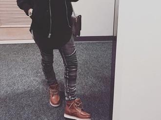 shoes brown brooklyn loafers dress urban streetwear jeans balmain biker jeans rigged street goth street urban outfitters grunge booties
