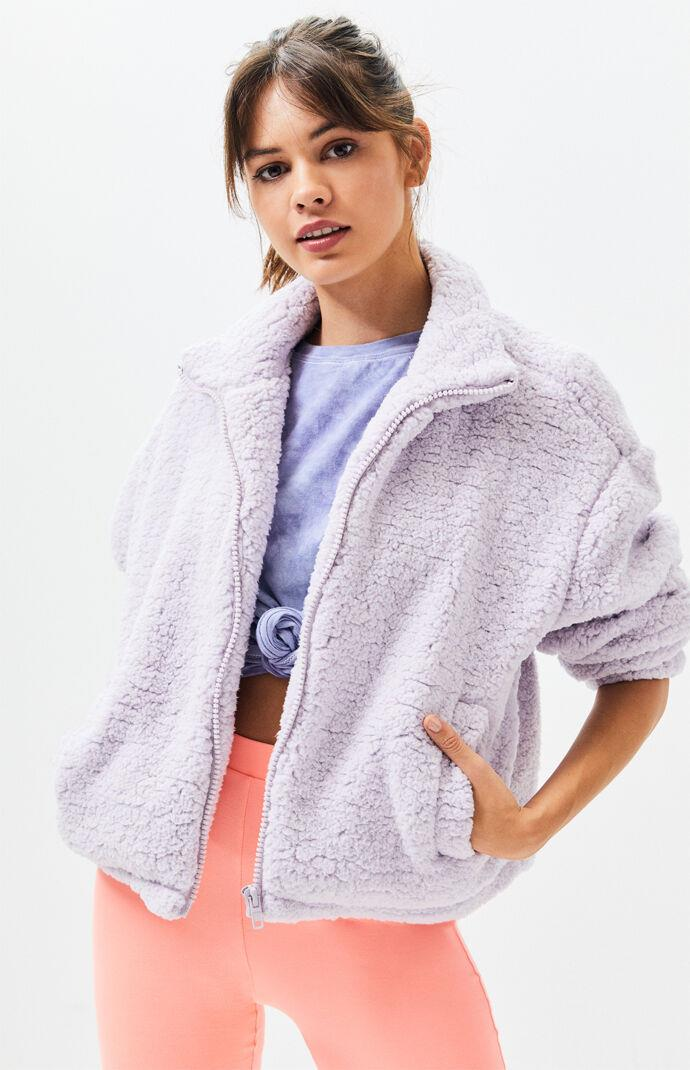 Lilac Sherpa Jacket