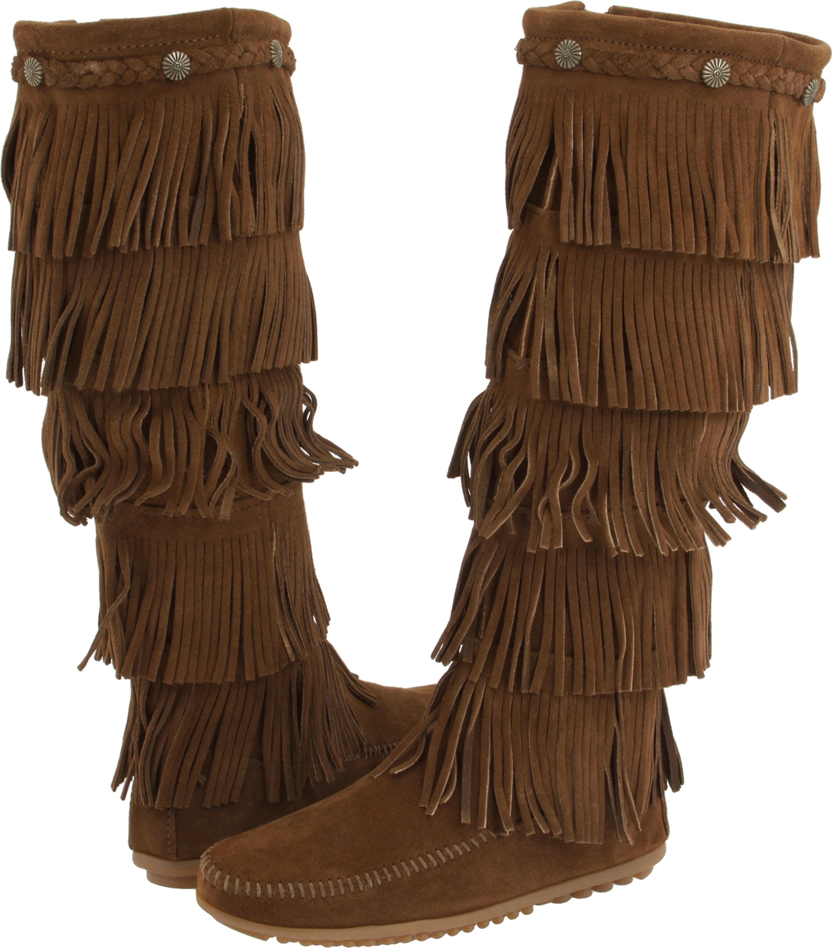 Minnetonka 5-Layer Fringe Boot Dusty Brown Suede - Zappos.com Free Shipping BOTH Ways