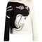 Panther-intarsia sweatshirt