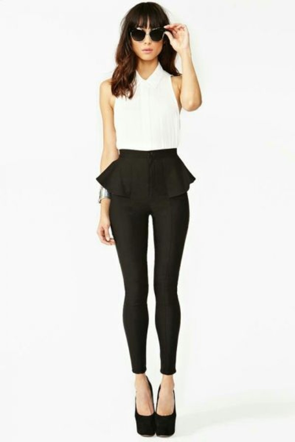 pants peplum