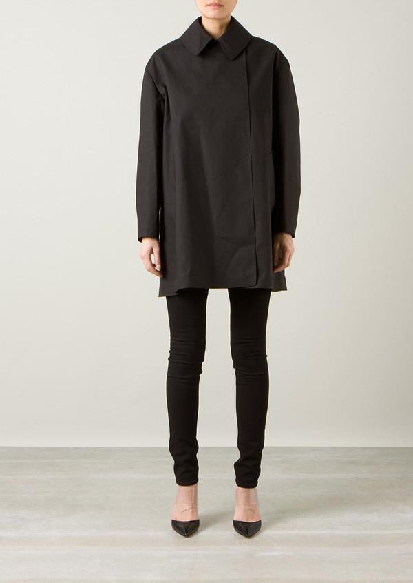 coat azzedine alaia black coat