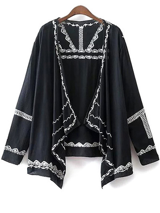 cardigan navy fashion summer trendy kimono boho festival zaful