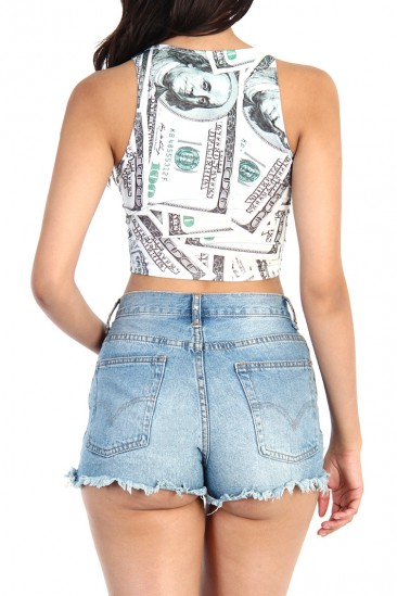 OMG Money Print Crop top