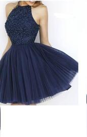 dress,sweet 16 dress dress,a lines,sleeveless,beadings,above-knee,haltered